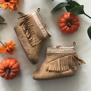 Other - Fringe Moccasin Boots